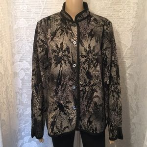 "Jackets & Blazers - Reversible Black & Gray Jacket 48"" Bust"